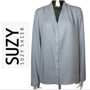 BNWT Suzy Shier Long Sleeve Button Detail Blouse